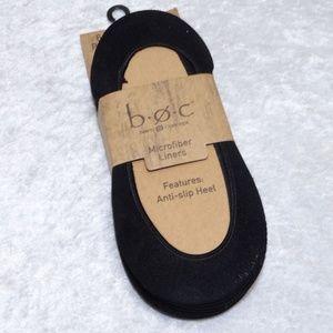 b.o.c Microfiber Liners Anti Slip Socks 4-10 6 pck